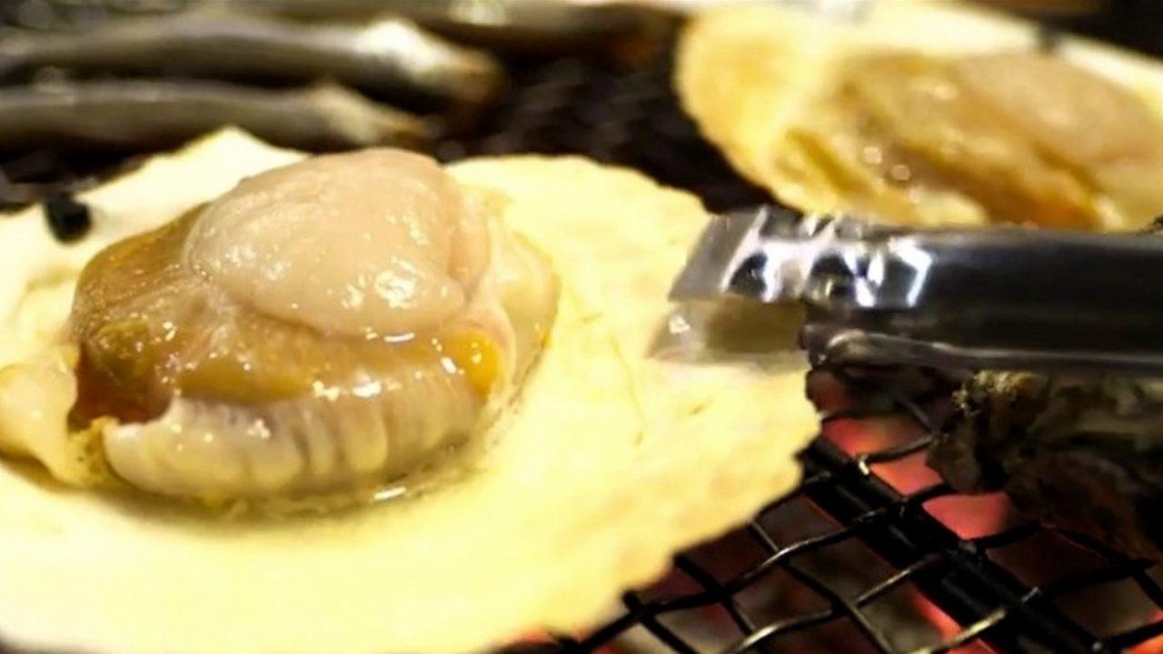 【ノンストップ】ホタテの磯辺焼きバターあんかけのレシピ エッセ【4月7日】