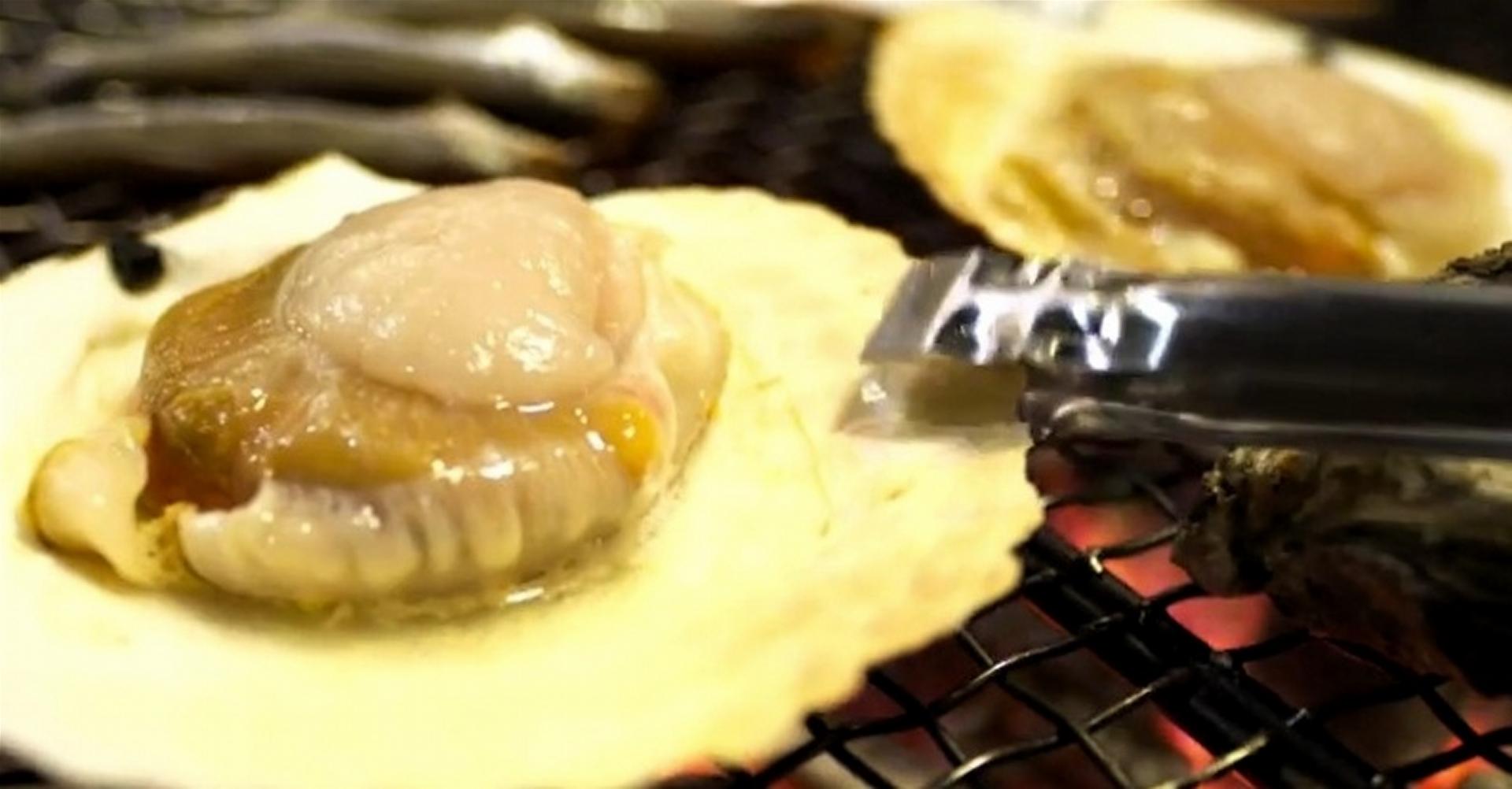 【ノンストップ】ホタテの磯辺焼きバターあんかけのレシピ|エッセ【4月7日】